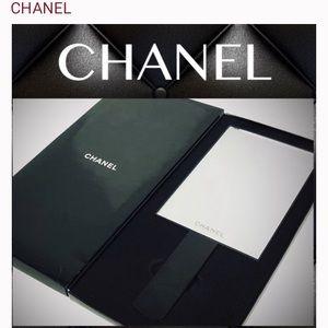 Auth Novelty CHANEL Standing/Handheld Mirror + Box